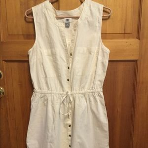 Old Navy white cotton Summer dress Large